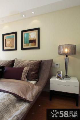 卧室床头抽象装饰画图片