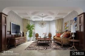 美式风格客厅电视背景墙装修效果图大全
