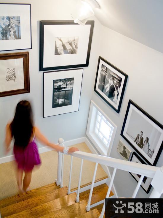 复式楼梯间墙面设计效果图