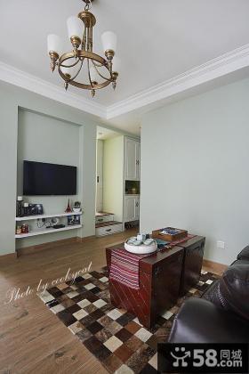 美式设计小客厅电视背景墙
