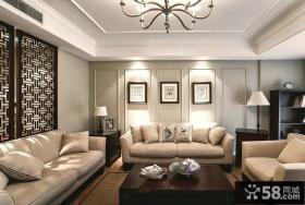 美式现代风格客厅装修图