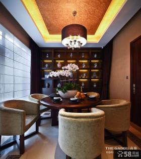 古典文韵的餐厅装修效果图大全2013图片