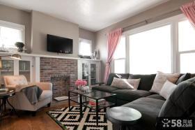 小客厅电视背景墙设计效果图片