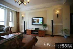 美式风格装修电视背景墙效果图