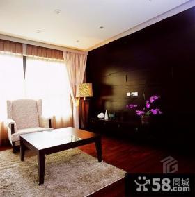 中式简约风格起居室装修效果图
