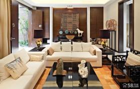 中式古典装修风格家居客厅效果图