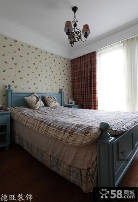 欧式田园风格70平米小户型卧室装修效果图