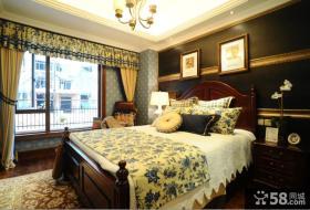 复古欧式别墅设计卧室效果图片