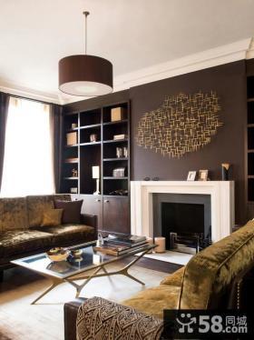 客厅咖啡色墙面效果图