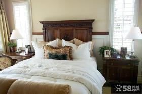 古典欧式卧室床摆放效果图片