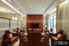 中式古典客厅设计大全