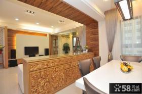 现代中式风格客厅吧台装修效果图