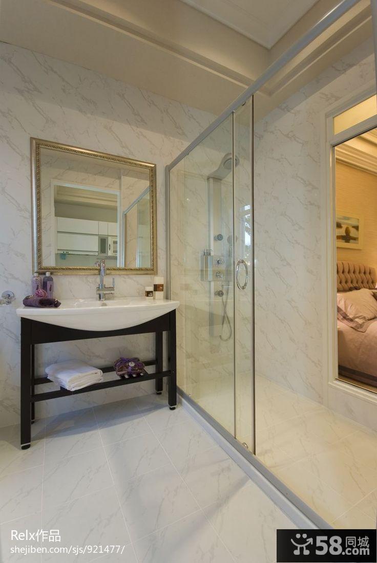 长方形洗手间装修效果图