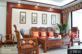客厅实木沙发家具图片欣赏