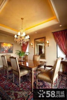 简约风格室内设计餐厅吊顶效果图