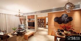 现代休闲小户型家装设计效果图