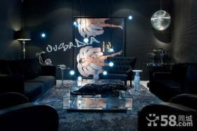七万打造奢华后现代简约风格客厅电视背景墙装修效果图