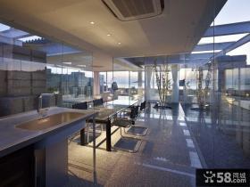 透明简约的别墅餐厅装修效果图大全2014图片