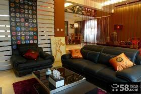 现代中式风格客厅沙发效果图