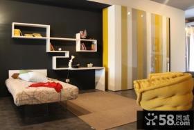 6万打造清新简约风格小户型卧室装修效果图大全2014图片