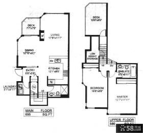 二层小别墅室内设计平面图