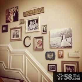 楼梯相片墙