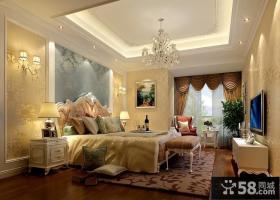 欧式主卧室吊顶装修设计效果图
