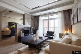 现代时尚100平米三室两厅欣赏大全