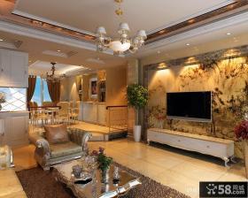 中式电视背景墙壁纸图片
