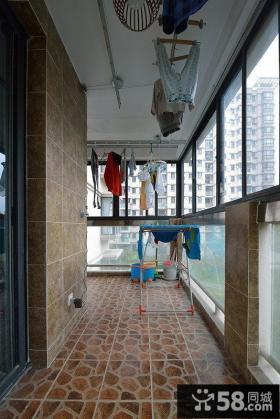 田园家居瓷砖阳台装修效果图