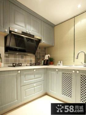 家装厨房实木橱柜图片大全