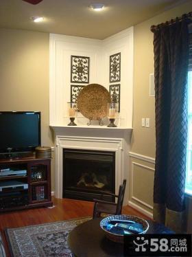 室内客厅墙角装饰效果图片