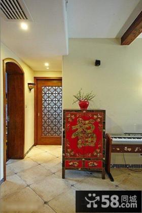 中式古典装修玄关效果图