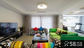 现代简约风格复式室内装修设计效果图