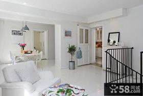 现代别墅楼梯玄关装修效果