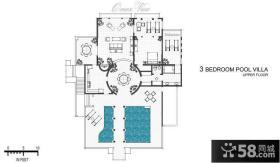 欧式小别墅平面图