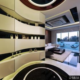 家居玄关置物架造型设计