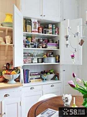 70平单身公寓厨橱柜房装修效果图大全2014图片