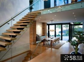 现代复式装修楼梯图片