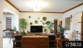 简约中式电视背景墙装修效果图欣赏