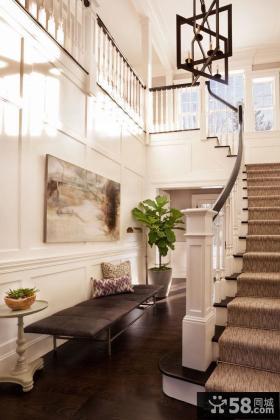 简欧风格别墅楼梯间装修图片欣赏