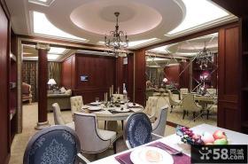 简欧风格餐厅设计装饰效果图