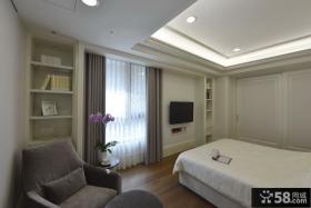 简约欧式风格卧室设计实景图