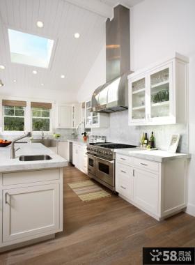 阁楼开放式厨房装修效果图大全