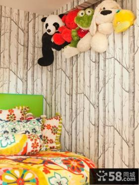 儿童卧室液体壁纸图片大全2013