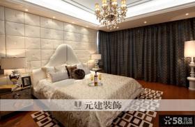 新古典风格主卧室床头背景墙效果图