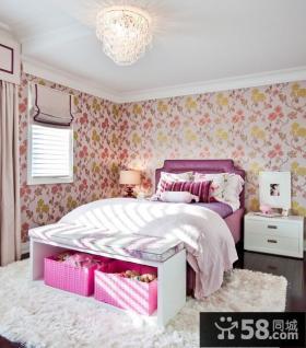 120平复式楼田园风格卧室装修效果图大全2012图片
