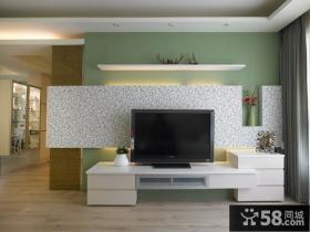 北欧电视背景墙效果图