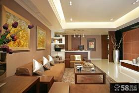 现代中式风格客厅沙发背景墙设计