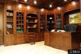 美式风格实木家用书柜图片大全